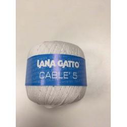 Cotone Gatto Cablè 5 Bianco...