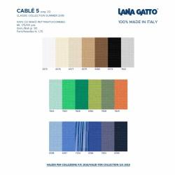 Cotone Gatto Cablè 5 Blu 6594