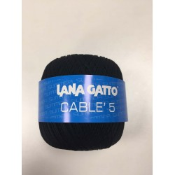 Cotone Gatto Cablè 5 Nero 6574