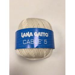 Cotone Gatto Cablè 5 Panna...