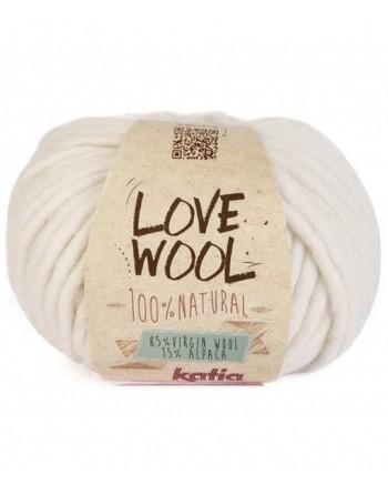 Lana Katia Love Wool Panna 100