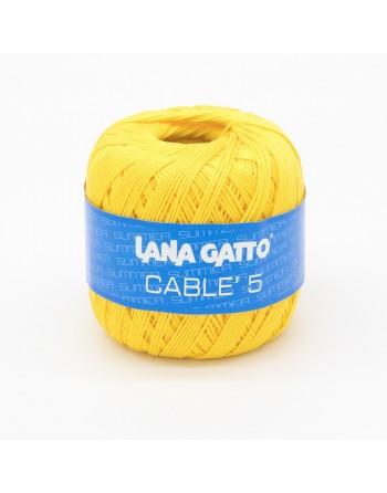 Cotone Gatto Cablè 5 Giallo...