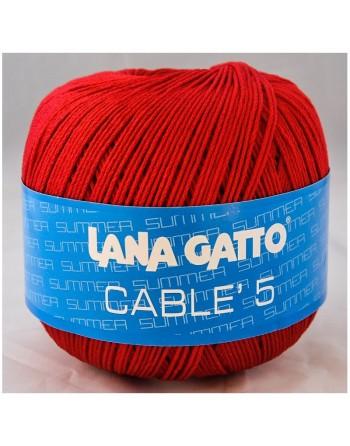 Cotone Gatto Cablè 5 Rosso...