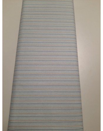 Tessuto Cotone Azzurro Righe