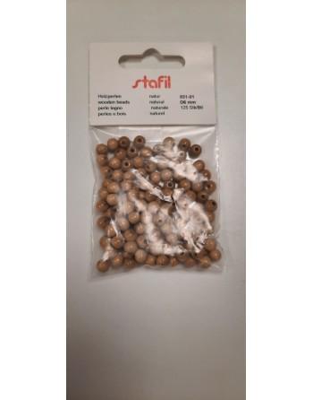 Perle di legno forata 6mm...